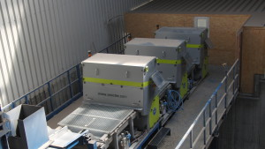Fine line at the Reiling glass recycling plant with three Sesotec K9 systems.